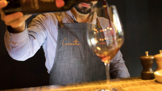 One glass fits all at Cucinetta.