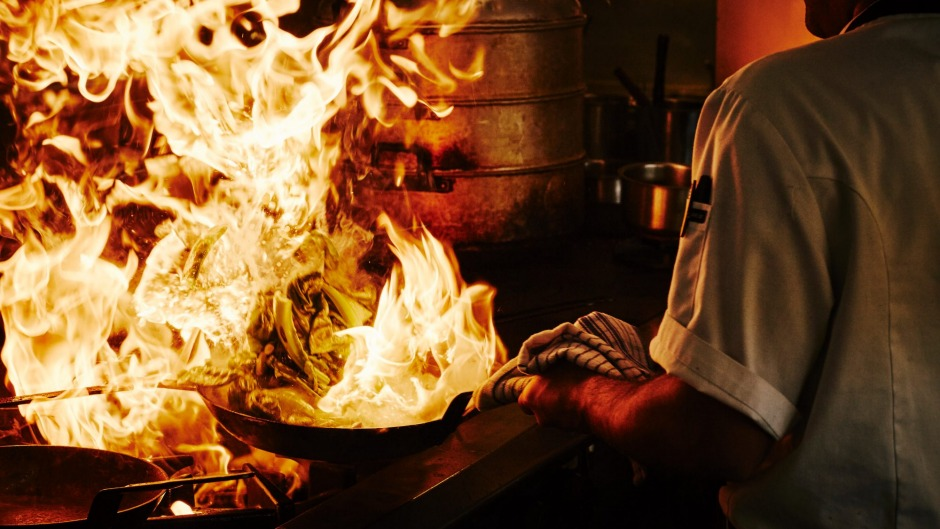 Heat is on: The realities of work in a busy kitchen deter many would-be chefs.