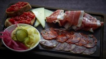 Spanish charcuterie at Ham and Sherry.