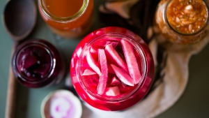 Save jam jars and use them for storage.