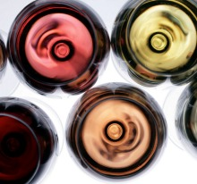Red to white wines.