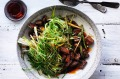 Neil Perry's stir-fried lamb with spring onions.