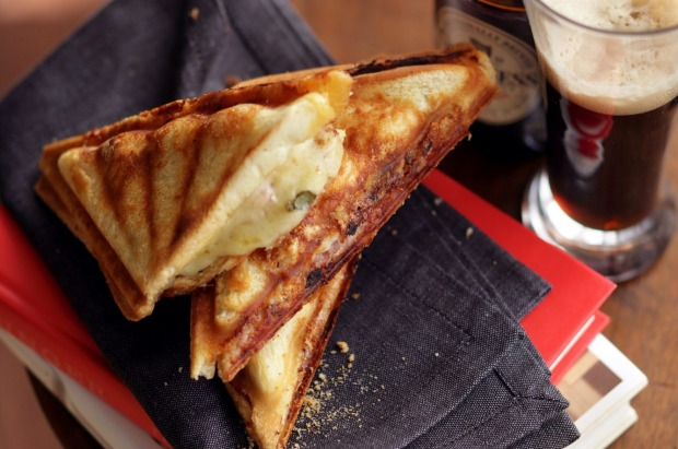 'Croque Mister' toasted ham, cheese and gherkin sandwich <a ...