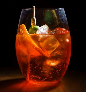 Dirty Aperol spritz.