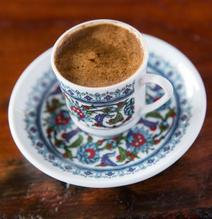 Turkish coffee is brewed on hot sand.
