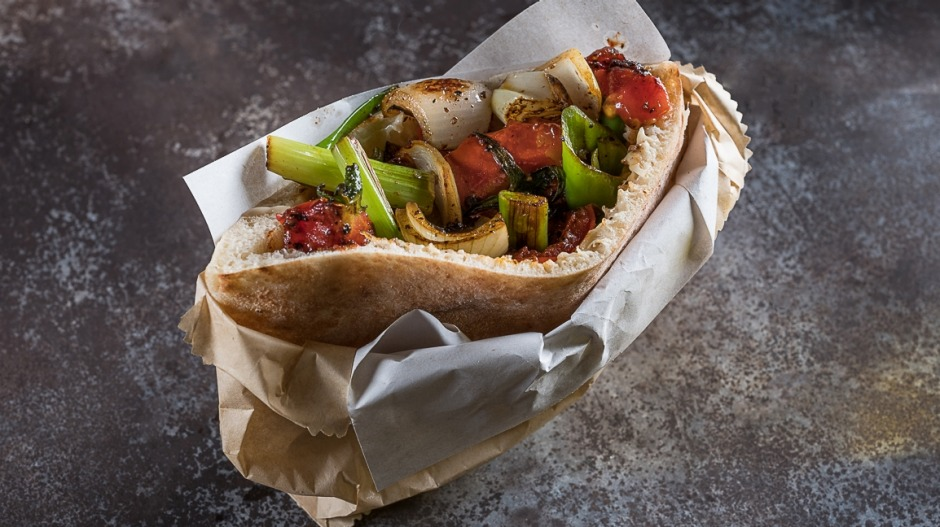 Roasted vegetable ratatouille pita at Miznon.