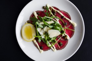 Thin shavings of eye fillet in the beef carpaccio practically melt in your mouth.