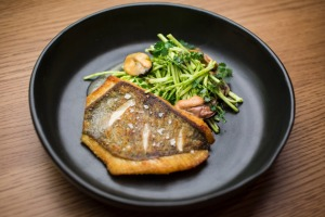 Go-to dish: Roasted john dory, mussels, celeriac & caper salad.