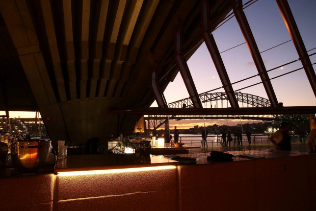 Bennelong bar at the Opera House.