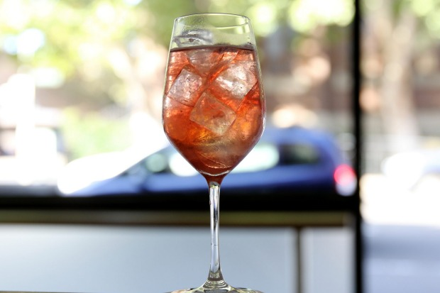 Rose gold spritz at This Must Be The Place in Darlinghurst.