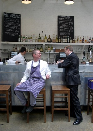 Fergus Henderson at St John Bread and Wine in 2003.