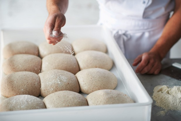 Shaping the base step 1: Once the dough has matured and tripled in size, remove from the refrigerator and leave at ...