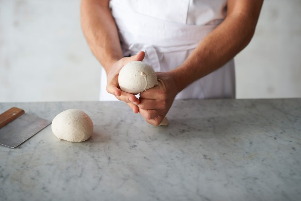 Shaping the dough step 4: Repeat this procedure to make more balls.