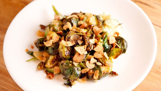The umami salad with brussels sprouts.
