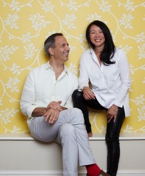 Ottolenghi with colaborator and Good Food recipe columnist Helen Goh.