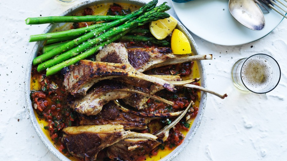 Serve the cutlets with seasonal greens, such as asparagus spears.
