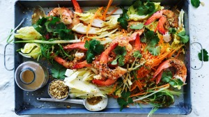 Neil Perry's prawn and cabbage salad.