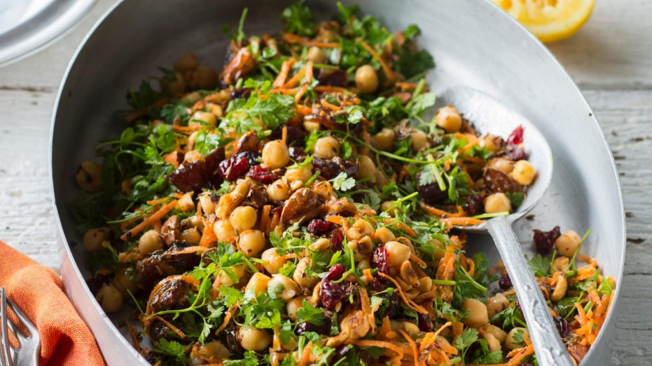 Michael Rantissi's chickpea, nut and dried fruit salad.