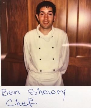 """""""Shagged"""". Ben Shewry's picture of himself at 23. He has now introduced a four-day work week."""