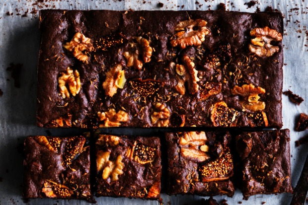 Dan Lepard's shiraz fig brownies <a ...