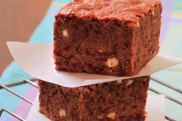 """Beetroot brownies <a href=""""http://www.goodfood.com.au/recipes/chocolate-and-beetroot-brownies-20111018-29ujm""""><b>(Recipe ..."""