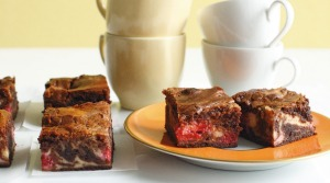 Raspberry cheesecake brownies.