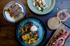 Share plates at the Summertown Aristologist in the Adelaide Hills.