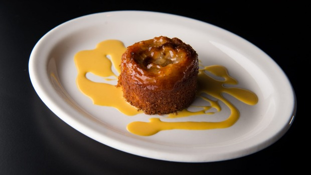 The torta di pere is an innocent little pear cake.