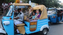 The tuk-tuk three-wheelers weave in and out of the traffic to out-of-the-way culinary spots.