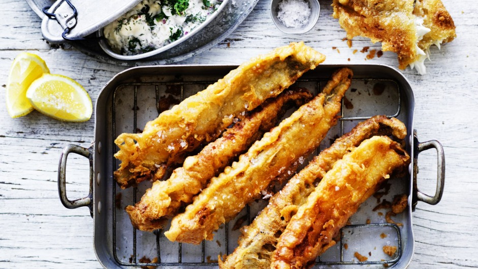 Fried whiting with beer batter recipe recipe good food fried whiting with beer batter forumfinder Image collections