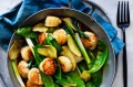 Kylie Kwong's scallop and snowpea stir-fry.