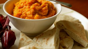Carrot and cumin dip.