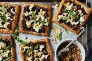 The Blue Ducks' fennel and squash squares with goat's cheese and pangrattato crumb.