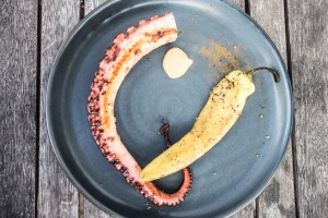 The grilled octopus is a signature at Captain Moonlite in Anglesea.