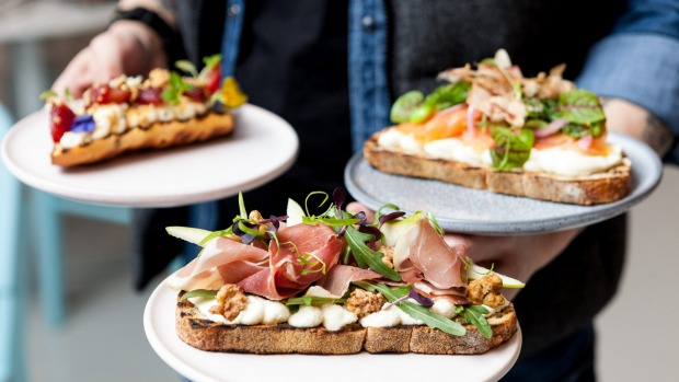 At White Mojo Plus+, toast comes with lavish toppings.