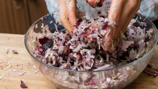 Step by step how to make sauerkraut with Arabella Forge.