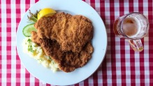 A wiener schnitzel at the Austrian Club, Frenchs Forest.