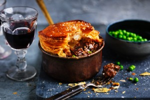 Neil Perry's beef chuck and pea pot pie.