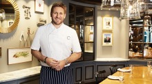 Sea fare: Curtis Stone at his restaurant Share aboard the Ruby Princess.