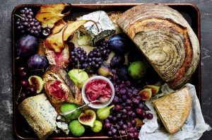 A lush cheese platter from Suzanne Lenzer's Graze book.