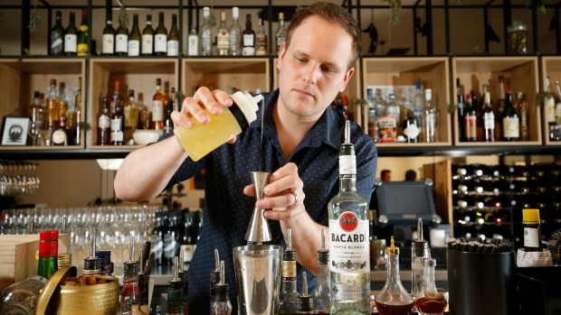 Good mix: Asher Spitz is known for his amazing cocktails.