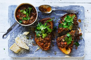 Adam Liaw's red wine mince on toast.