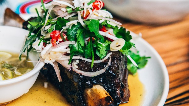Twice-cooked beef short rib at Chin Chin, Sydney.