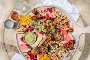 Bounty and abundance: A healthy party platter from Little Magic Feast.