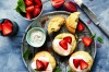 America meets England: Strawberry shortcakes with strawberries and cream <a ...