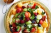 Melon ball and berry mascarpone tart with marmalade glaze <a ...