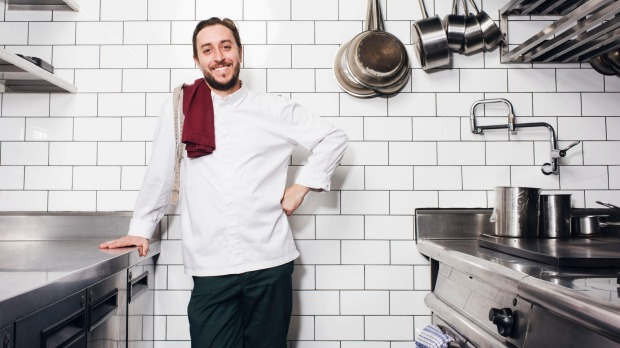 Chef Daniel Puskas at Sixpenny, one of two three-hatted Sydney restaurants for 2020.