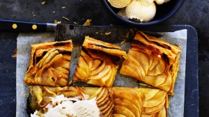 Five ingredient apple tart.