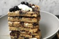 Elle Joy's feta blueberry and chocolate pancakes.