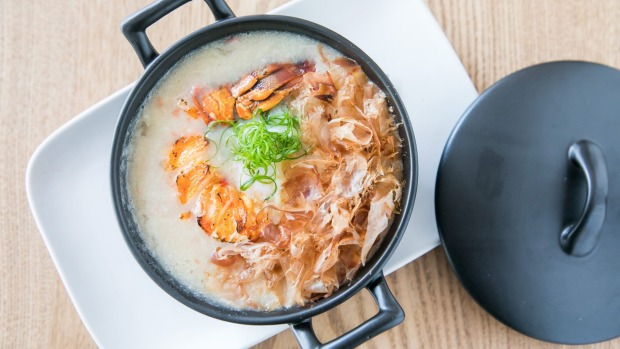 Lobster congee with a slow-cooked onsen egg.